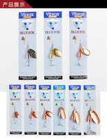Wholesale Hot Selling Brand Metal VIB Blades Fishing Lure Size Colors Freshwater Spinnerbaits Bionic Blue Vibrax baits Hook for Bass Fishing