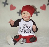 american vintage clothing wholesale - Baby and Girls clothes sets vintage kids winter clothing new Spring summer children clothing Letters flowers boys toddler clothes