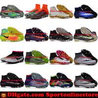 al por mayor hypervenom-Botas de fútbol para hombre Neymar Hypervenom Fantasma JR Magista Obra 2 Mercurial x EA SPORTS Superfly CR7 FG Zapatillas de fútbol de alto tobillo Soccer Shoes