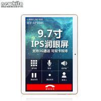 Precio de Ips tableta al por mayor-Venta al por mayor 3G Tableta Core Quad 9,6 pulgadas WCDMA 1280 * 800 pxl IPS Dual SIM 16 GB ROM Bluetooth GPS WIFI teléfono llamada Android 4.4 Tablet PC