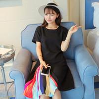bell linen - Woman European leg summer Korean Knee Length slim retro short sleeved dress Ladies Pleated dress ladies fashion dresses