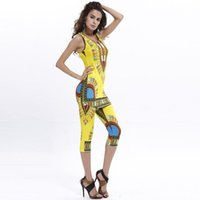 Wholesale African Bazin Summer Outfits Bodycon Dashiki For Women Top Shirt Leggings African Traditional Dress Women Clothing Set