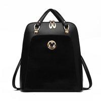 Venta al por mayor- Mickey marca negro impermeable pequeña PU mochila de cuero mujeres viajes bolsa de estudiantes bolsas de escuela para las niñas adolescentes 2017