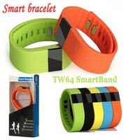 Wholesale Fitness Activity Tracker tw64 Bluetooth Smartband Sport Bracelet Smart Band health Wristband Pedometer For IOS Samsung Android OME TW64
