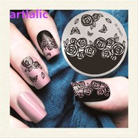 Wholesale Nail Art Template Nail Stamping Plates Beauty Handle Designs Stamping Plates Nail Art Tips Manicure Styling Tools YZWLE02