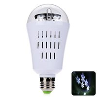 Wholesale E27 W LED Auto Rotating Snowflake Bulb Bar Stage Lighting