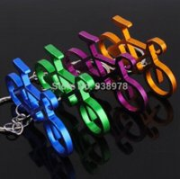 Wholesale 10pcs New Mix Color Bicycle Keychain metal figures Bike Key Chain Keyring Sport Keychain Creative Gifts