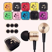 Wholesale DHL Mic Xiaomi headphones with microphone earphone for iphone S s s iphone earphones Remote control