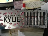 Wholesale in stock set Kylie Vault lipstick kit colors Kylie Lipstick Vault Holiday Edition Christmas Gift Kit Lipgloss set free DHL