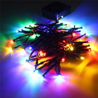 LED best solar christmas lights - Best Promotion M Solar Powered Colorful LED Fairy String Light W Outdoor Yard Garden Path Chirstmas Party Decor Lamp