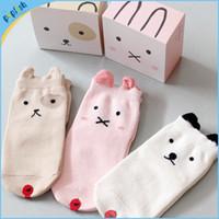 baby socks dog - China new styles girls boys dog design booties anti slip rubber bottom baby socks cotton