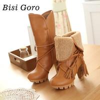 beige riding boots - 2016 new botas femininas autumn winter women riding boots female high heels thick heel leather women boots lace up high boots