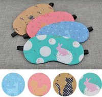 Wholesale Europe and The United States Sleep Goggles Ice Bag Compress Shading Cute Cartoon Animal Cotton Mask