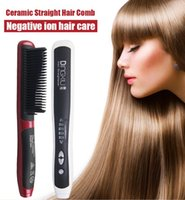 Wholesale 2017 hot selling and popularable Dingxiu Hair Straightener Comb Instant Magic Iron Hair Straightener Brush White Color