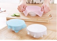 Wholesale Newest Multi functional Silicone Saran Wrap Reusable Cling Film Refrigerator Food Storage Cover Kitchen Vacuum Lid Sealer WA1551