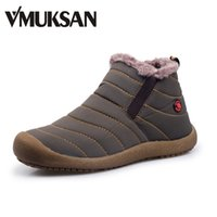 Wholesale VMUKSAN Men Winter Snow Shoes Lightweight Ankle Boots Warm Waterproof Botas Mens Rain Boots New Furry Booties Shoes For Men