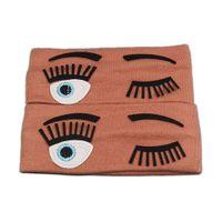 Wholesale 5 Colors Cute Wide Headband Stretch Ribbon Cotton Hairband For Women Girls Cartoon Big Eyes Headband Turban Accessories