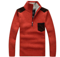 big blue computer - Men s Sweaters Thick Warm Winter Zipper Pullover Cashmere Wool Sweaters Man Casual Knitwear Fleece Velvet Clothing Big Size XXXL