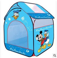 baby mouse games - Ultralarge Children Beach Tent Baby Toy Play Game HouseMickey Mouse and Donald Duck children tent Indoor Outdoor Toys Tents