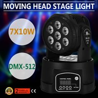Wholesale 7x10W RGBW in1 LED Moving Head Light DMX PAR Strobe Stage Party Lighting