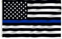 Precio de Líneas blancas-10pcs / lot los 90 * 150cm La banderas de la policía de BlueLine los EEUU 3x5 pie la línea azul fina bandera de los EEUU La bandera americana negra, blanca y azul con los ojales de cobre amarillo