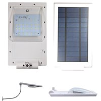 Wholesale Updated Super Bright LEDs Solar Powered Lamp Solar Street Light Waterproof Solar Lamp Sensor Security Light Adjustable Angle Gadern Light
