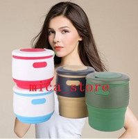 baskets for gifts - 2017 IN STOCK Silicone Collapsible Travel Mug Reusable Travel Foldable coffee Cup multifunctional Leak Proof for Reading Traveling Camping