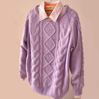 basic sweater crochet pattern - New Retro Diamond Lattice Pattern Twist Thick Sweater Women Round Neck Long Sleeve Basic Solid Lady Sweaters Pullovers Top