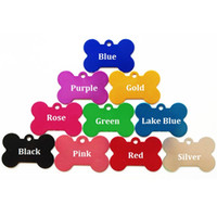 Wholesale 38 mm Small Bone Shape Charm Pet Name Address Tags Colorful Dog Cat ID Tag Aluminium Alloy Metal Pet Accessories ZA1554