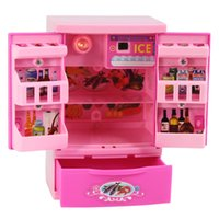 best mini refrigerators - Mini Simulation refrigerator toy for kid lovely classic electric furniture toy the best gift for children Pink