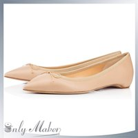 best flats boats - Classic Pointed Toe Pumps Best Sale Women boat Flats Shoes with bowtie hot hidden heel flats shipping free by dhl
