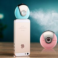 Wholesale Mini phone Humidifier Aromatherapy essential oil diffuser Mist Maker Fogger Beauty replenishment for Andrews and IOS Hot GREEN