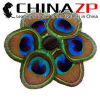 Wholesale Gold Supplier CHINAZP Premium Quality Beautiful Natural Unique Peacock Feather Clip DIY Craft Decoration for Sale