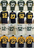 aaron rodgers jersey cheap - 2017 New Elite Aaron Rodgers Jordy Nelson Clay Matthews Eddie Lacy Cheap Mens Throwback Alternate Navy Stitched Football Jerseys