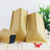 aluminium foil paper - Retail cm x20cm Top Open Kraft Paper Heat Seal Aluminium Foil Vacuum Packaging Bag For Powder Coffee Nuts Tea