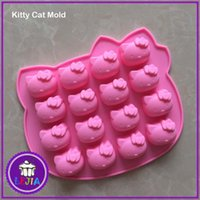 Wholesale ketty Shape D Silicone Mold Cake Decoration tools Food Grade cake soap chocolate Fondant Moulds Baking tools