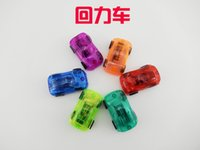 Wholesale 6 colors Transparent Mini Pull back Car Toys Children toys Plastic Cute Car Toy Birthday Xmas Gifts for promotion gift