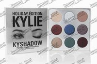 Wholesale Factory Direct New Makeup Holiday Edition Kylie KyShadow Pressed Powder Eyeshadow The Holiday Palette Colors Eyeshadow