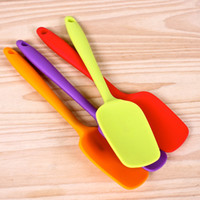 Wholesale Silicone Pancake Turner Baking Tools Full Package Silica Gel Scraping Spatula Seamless Food Grade High Temperature Resistance kn