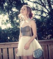 achat en gros de tutus jaune pour les femmes-Lolita Style Light Yellow Mint Tutu Jupes pour femmes Fashion Tulle Jupe Couleur Free High End Summer Style