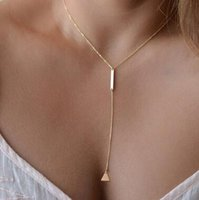 Wholesale Hot European and American foreign trade of extreme simplicity simple metal ring short necklace chain necklace