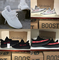 kanye west nuevos zapatos al por mayor-Nuevo 350 Boost Beluga 2.0 Gris Naranja Bold AH2203 SPLY Boost 350 V2 Zebra Cream Blanco Core Negro Kanye West Zapatillas
