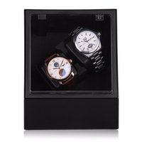 Wholesale Luxury Top Quality Auto Watch Winder Box Double Automatic Watch Winder In Black EU Plug Hot Sale Winder Case