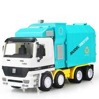 Wholesale high quality performace inertia garbage truck with one dustbin simulation toy model car sanitation trucks juguetes vehicle friction toys