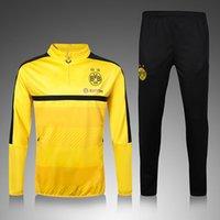 Wholesale New16 Dortmund yellow High qualityTraining Suit Champions League Tracksuit Sweatshirts Sportsswear Vidal Muller High Nec
