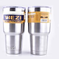 Wholesale YIEZI oz oz oz oz oz oz oz Cups YIEZI Rambler Cups YIEZI Rambler Travel Vehicle Beer Mug Double Wall dhl free OTH242