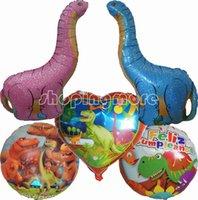 animal safari balloons - THE GOOD DINOSAUR T REX TANYSTROPHEUS HAPPY BIRTHDAY BALLOON KIDS SAFARI JUNGLE ANIMAL PARTY DECORATION BIRTHDAY CENTERPIECE FAVOR GIFT TOY