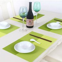 Wholesale Eco friendly PVC Table Mat Heat insulated Tableware Easy Clean Western Dinner Bowl Placemat Kitchen Pad
