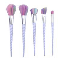 Wholesale Mybasy Professional Foundation Make Up Tools Fiber Hair Unicorn Thread Makeup Brush sets
