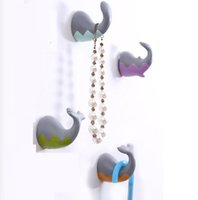 Wholesale cute sea animal wall hooks whale shark animal tail hook towl holder kitchen wall hanger for home storage decoration wall hangers pc h50